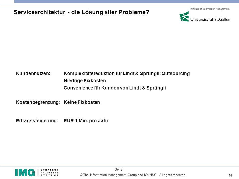 Servicearchitektur - die Lösung aller Probleme