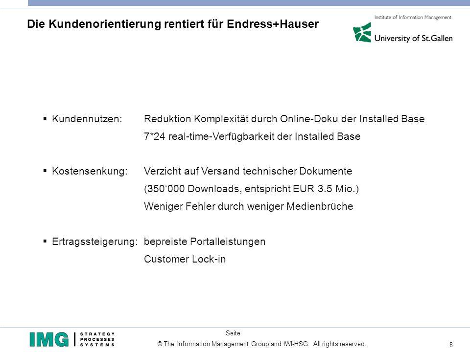 Die Kundenorientierung rentiert für Endress+Hauser