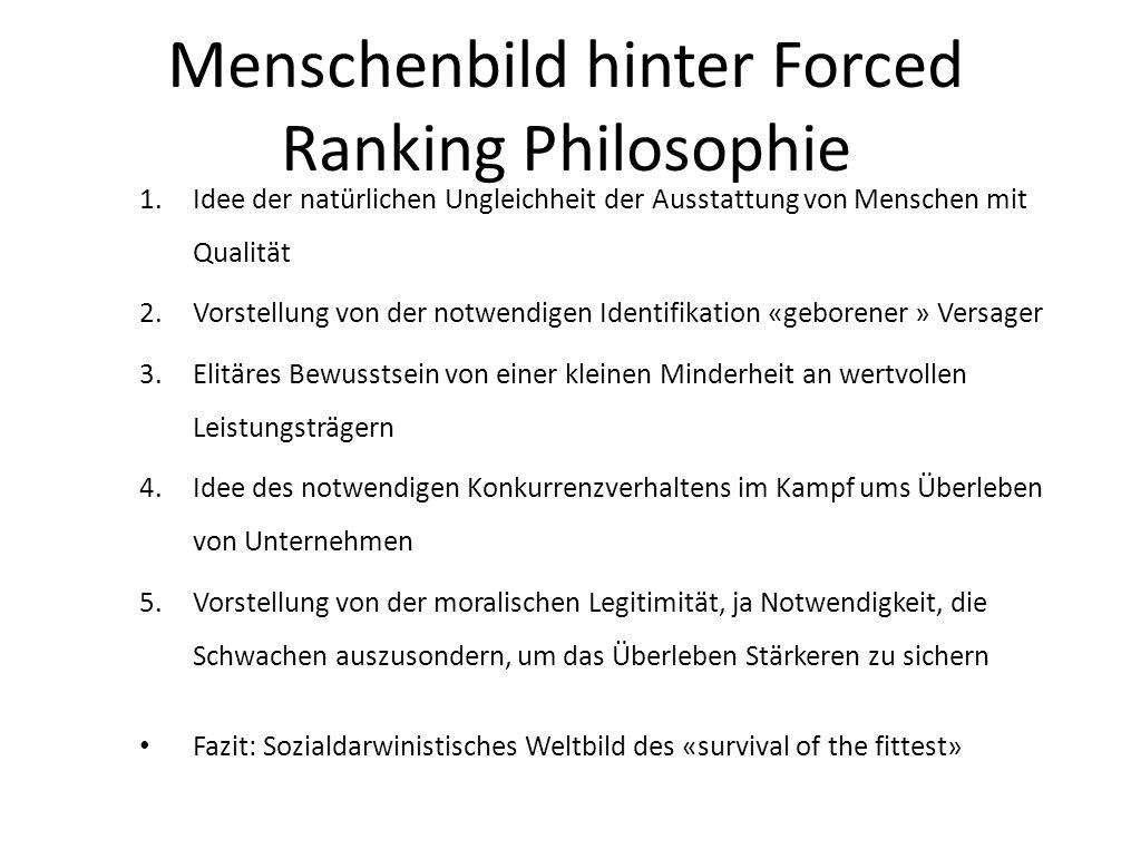 Menschenbild hinter Forced Ranking Philosophie