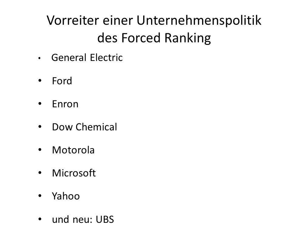 Vorreiter einer Unternehmenspolitik des Forced Ranking