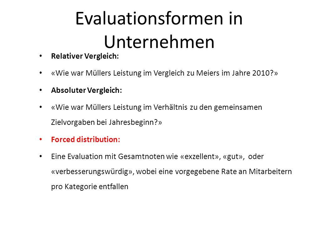 Evaluationsformen in Unternehmen