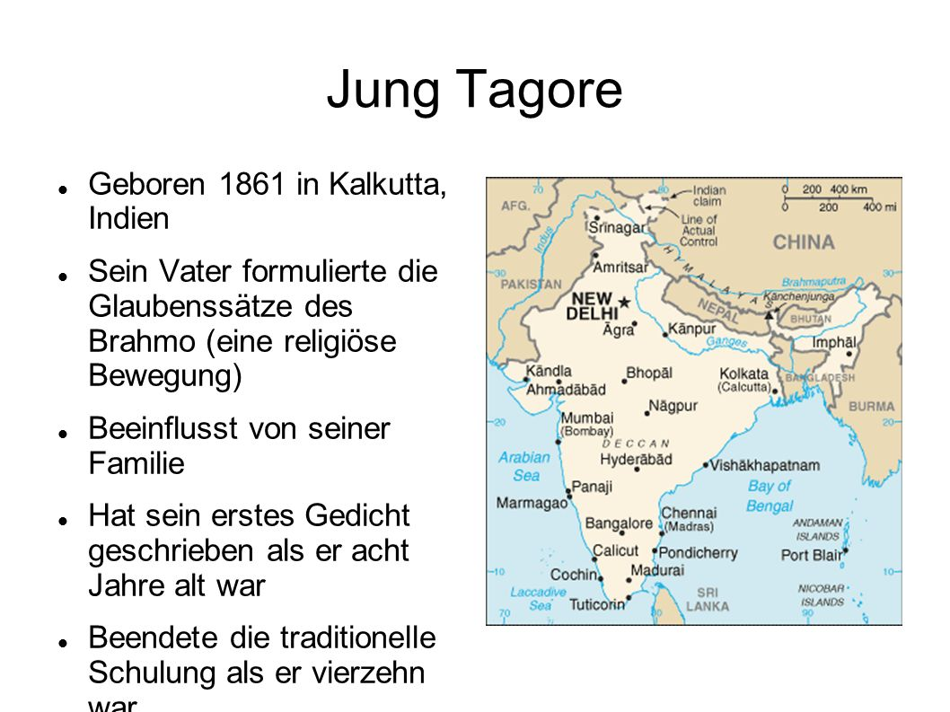 Jung Tagore Geboren 1861 in Kalkutta, Indien