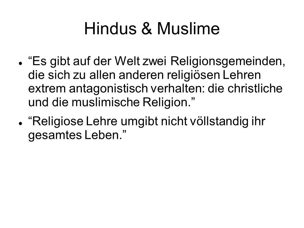 Hindus & Muslime