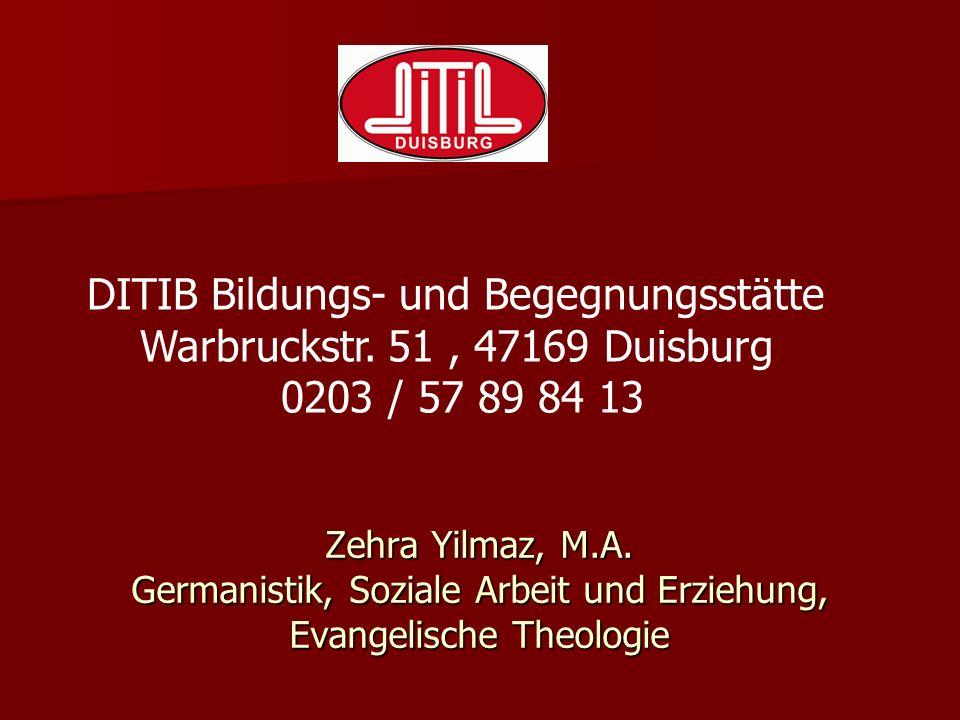 Zehra Yilmaz, M.A. Germanistik, Soziale Arbeit und Erziehung, Evangelische Theologie