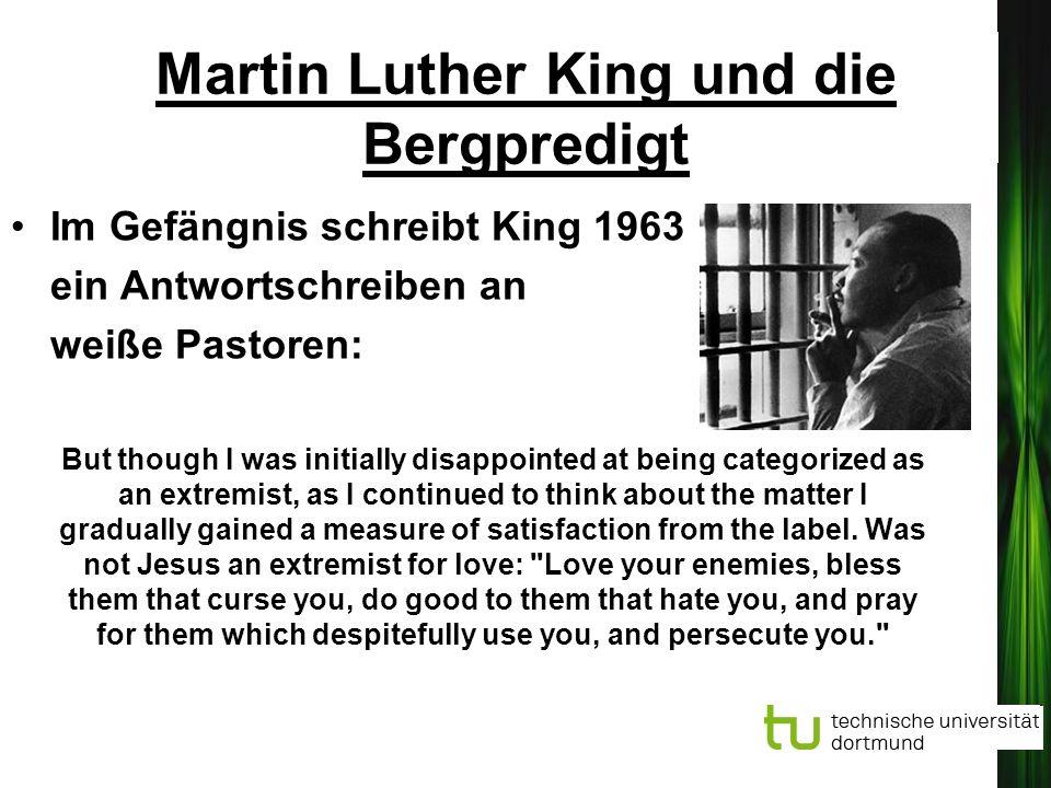 Martin Luther King und die Bergpredigt