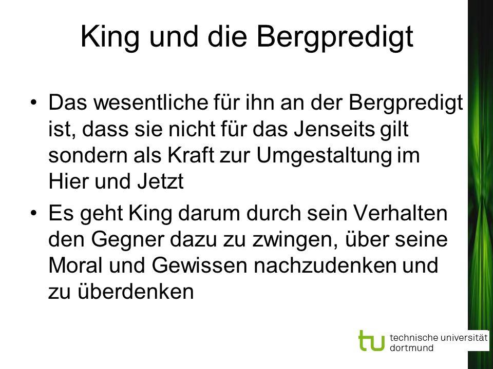 King und die Bergpredigt