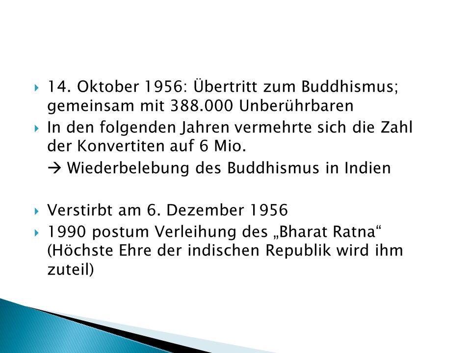 14. Oktober 1956: Übertritt zum Buddhismus; gemeinsam mit 388