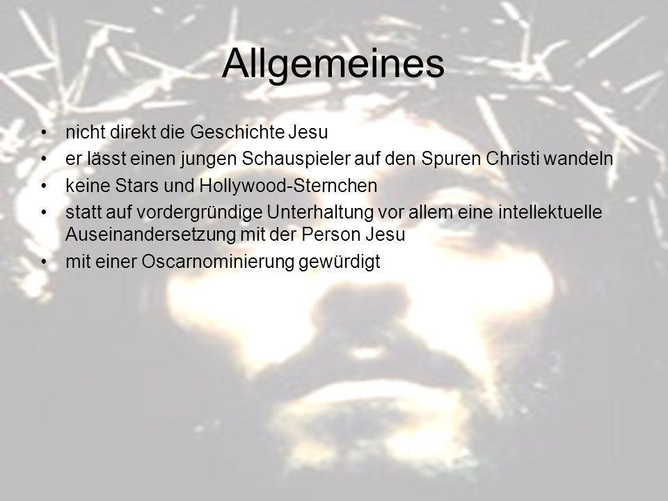 Allgemeines nicht direkt die Geschichte Jesu