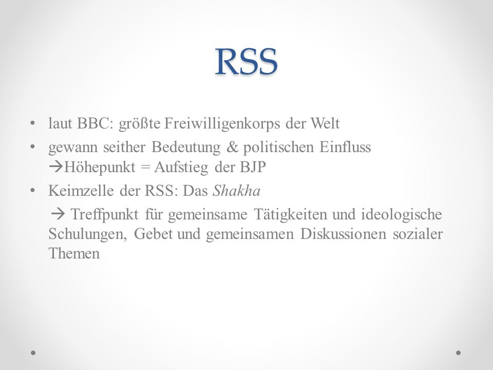 RSS laut BBC: größte Freiwilligenkorps der Welt