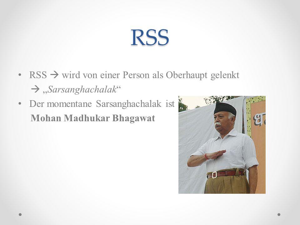 RSS RSS  wird von einer Person als Oberhaupt gelenkt