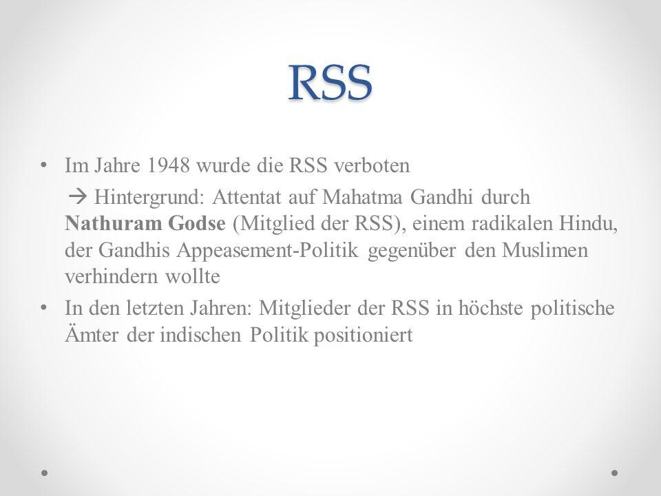 RSS Im Jahre 1948 wurde die RSS verboten
