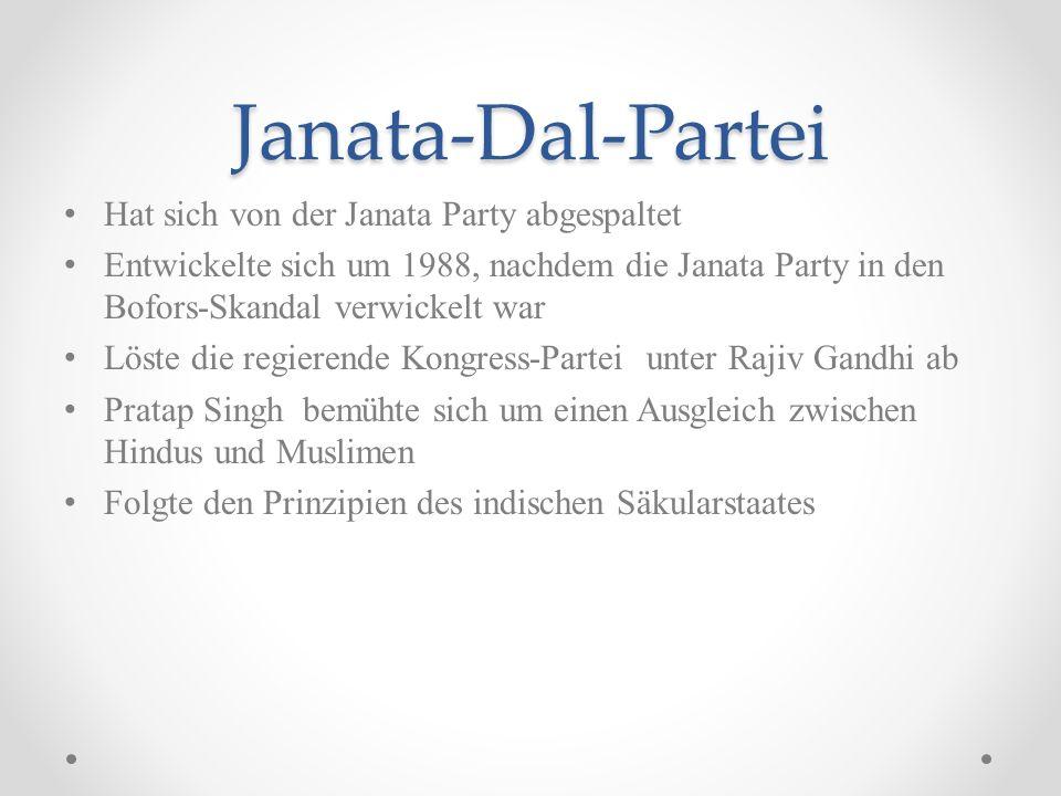 Janata-Dal-Partei Hat sich von der Janata Party abgespaltet