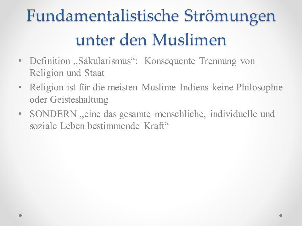 Fundamentalistische Strömungen unter den Muslimen