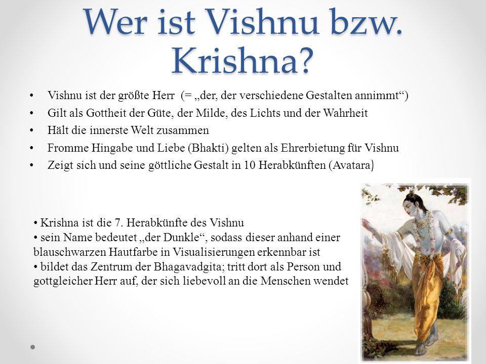 Wer ist Vishnu bzw. Krishna