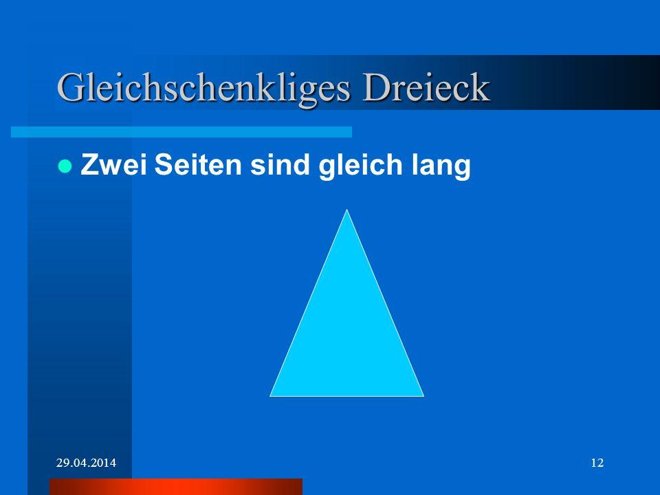 Gleichschenkliges Dreieck