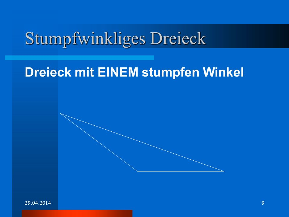 Stumpfwinkliges Dreieck