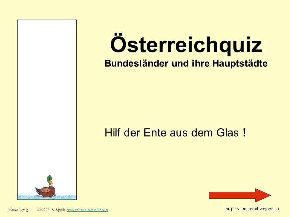 Österreichquiz Bundesländer und ihre Hauptstädte