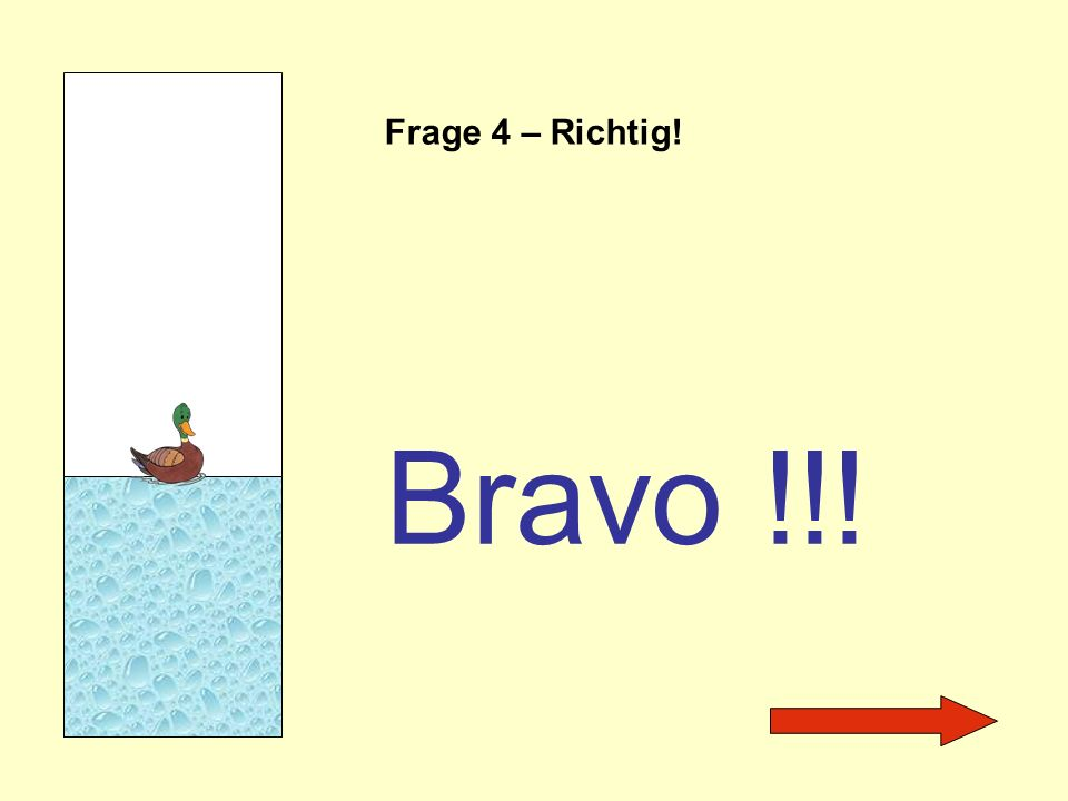 Frage 4 – Richtig! Bravo !!!