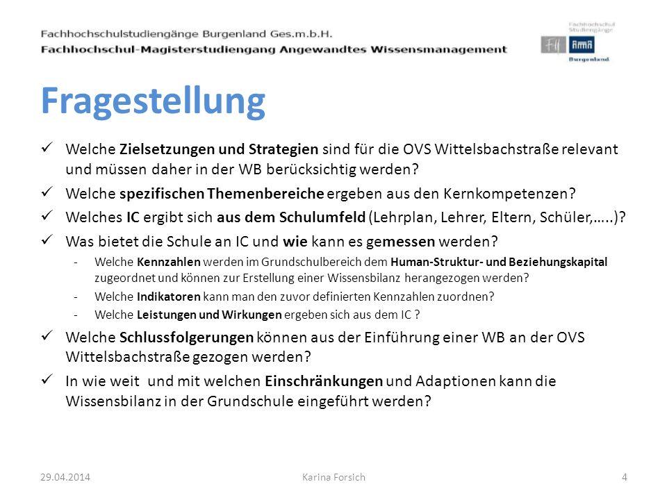 Fragestellung Welche Zielsetzungen und Strategien sind für die OVS Wittelsbachstraße relevant und müssen daher in der WB berücksichtig werden
