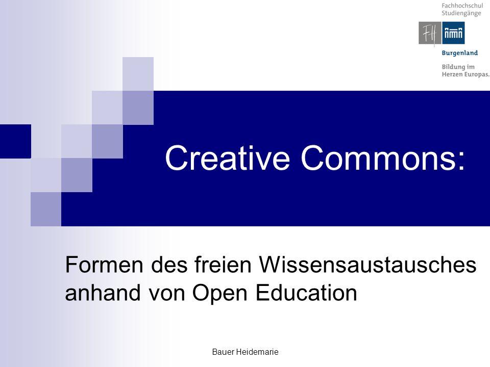 Formen des freien Wissensaustausches anhand von Open Education