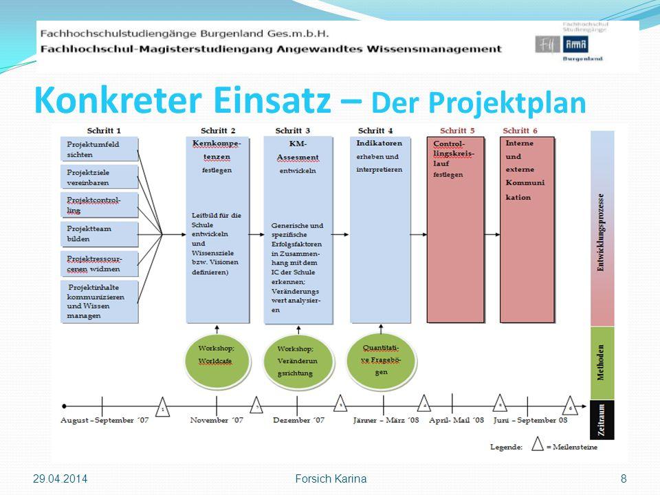 Konkreter Einsatz – Der Projektplan