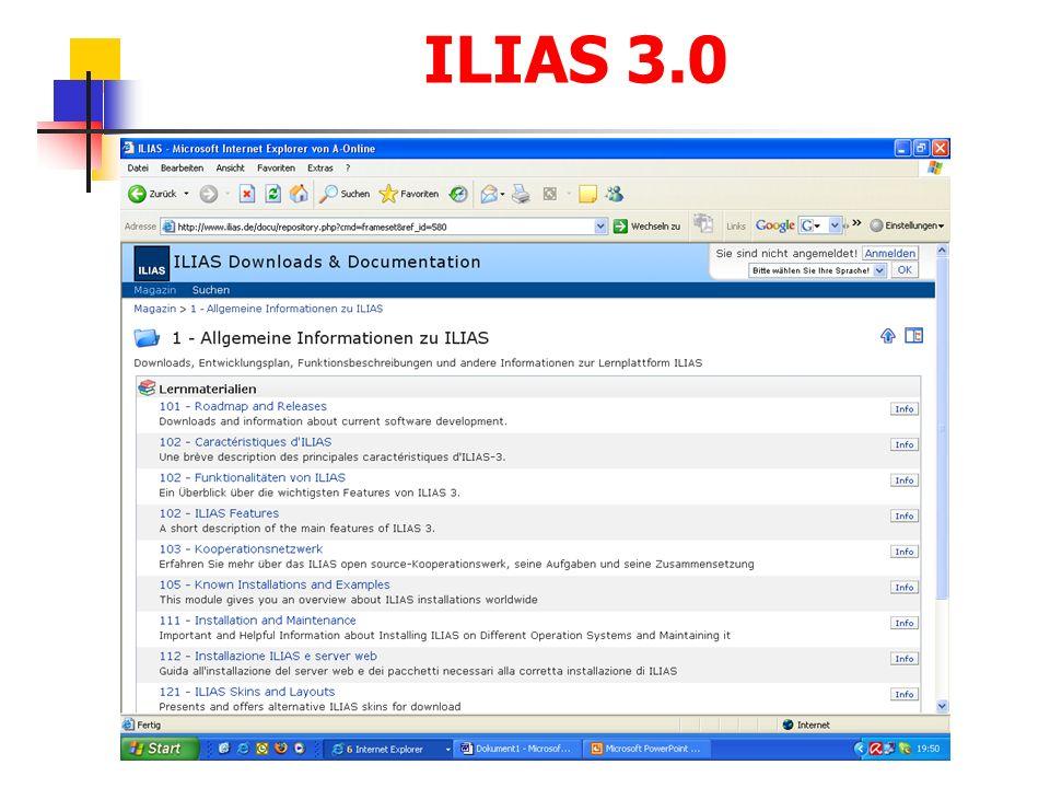 ILIAS 3.0