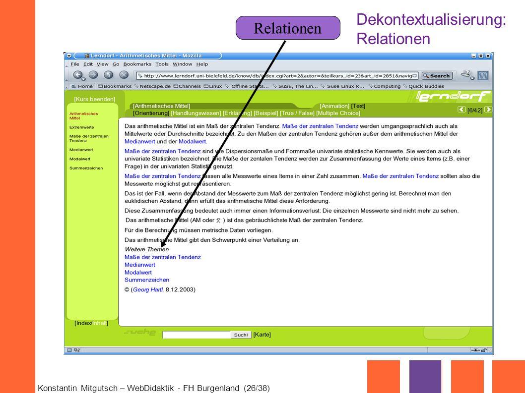 Dekontextualisierung: