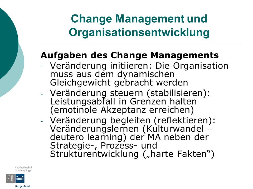 Change Management und Organisationsentwicklung