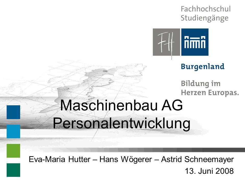 Maschinenbau AG Personalentwicklung