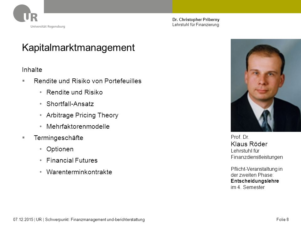 Kapitalmarktmanagement