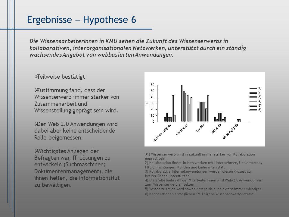 Ergebnisse – Hypothese 6