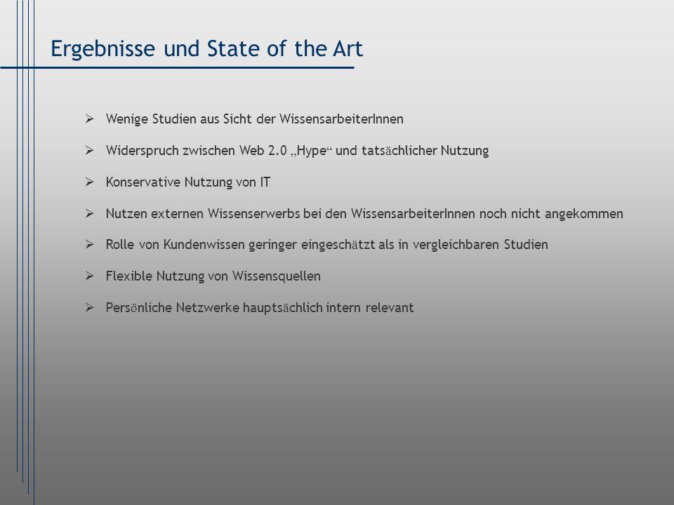 Ergebnisse und State of the Art