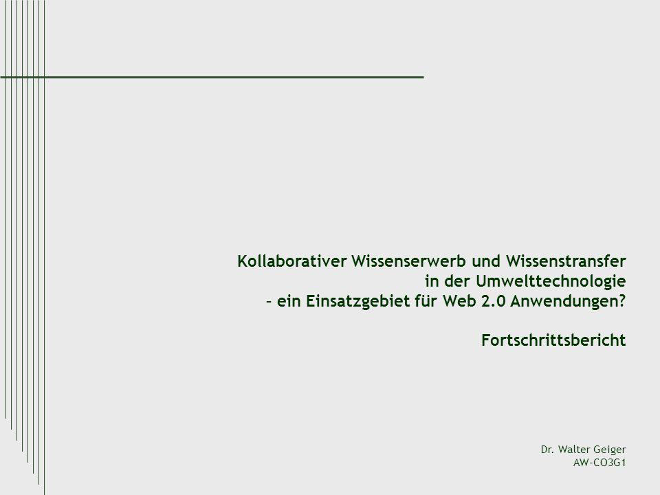 Kollaborativer Wissenserwerb und Wissenstransfer