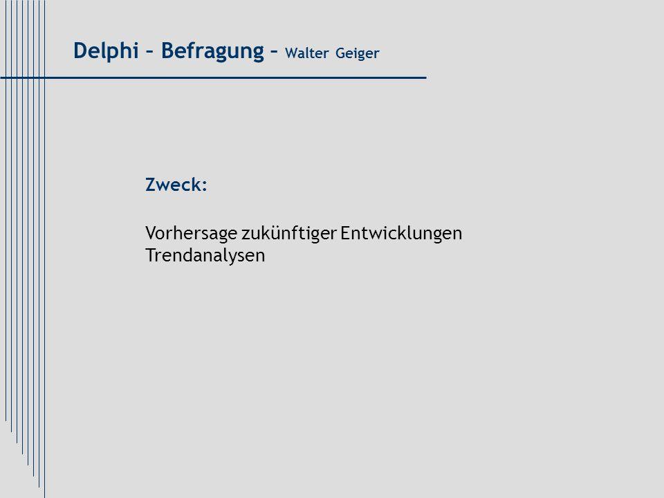Delphi – Befragung – Walter Geiger