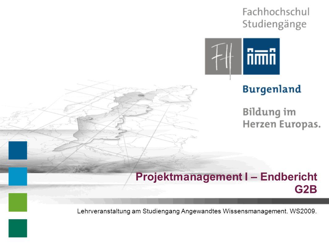 Projektmanagement I – Endbericht G2B