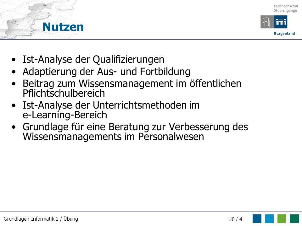 Nutzen Ist-Analyse der Qualifizierungen