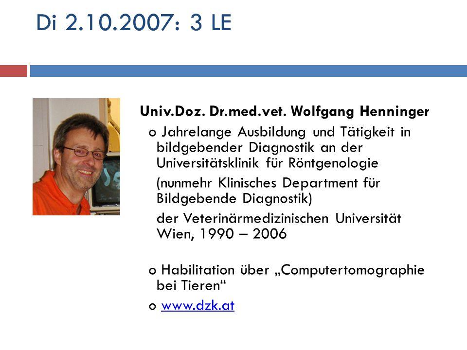 Di 2.10.2007: 3 LE