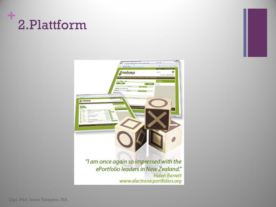 2.Plattform Dipl.-Päd. Irene Tatzgern, MA
