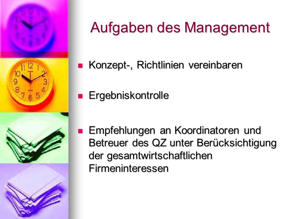 Aufgaben des Management