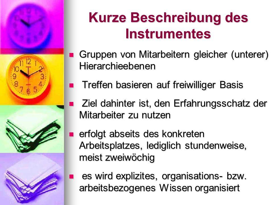 Kurze Beschreibung des Instrumentes