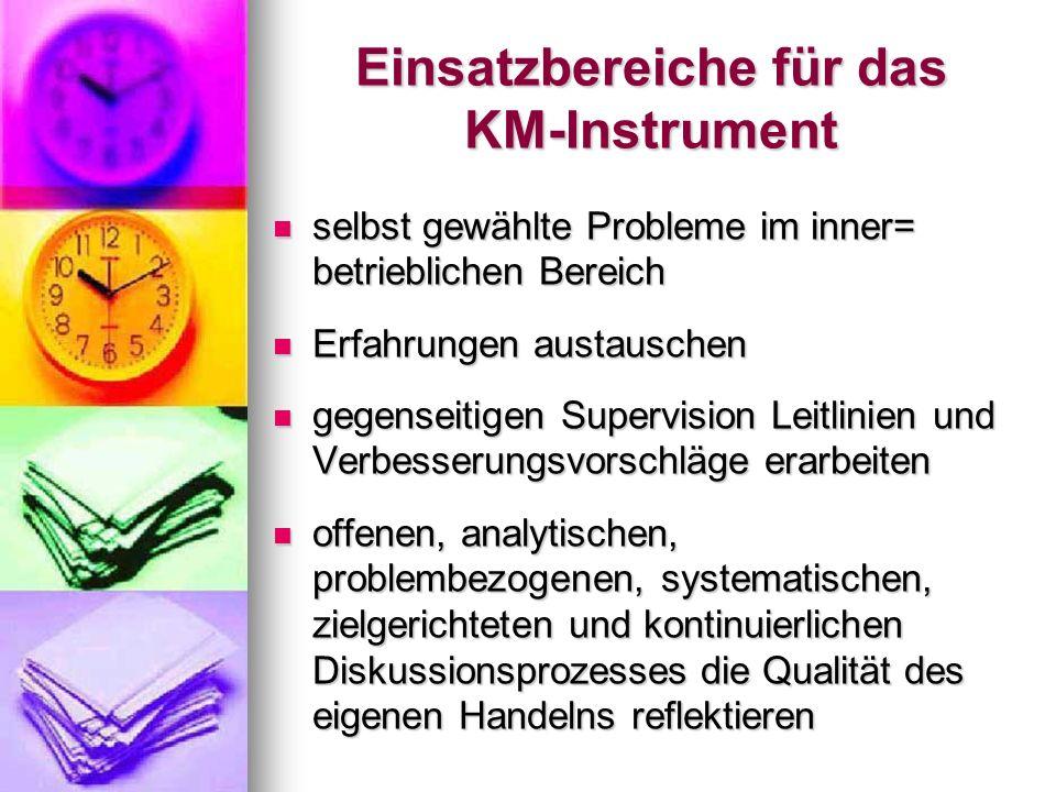 Einsatzbereiche für das KM-Instrument