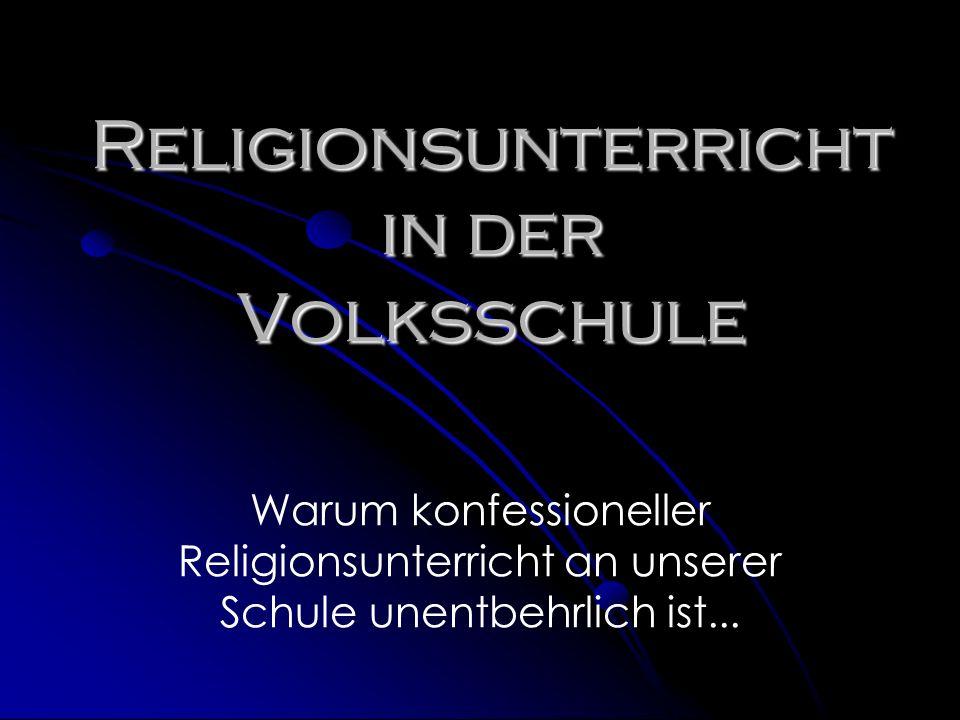 Religionsunterricht in der Volksschule