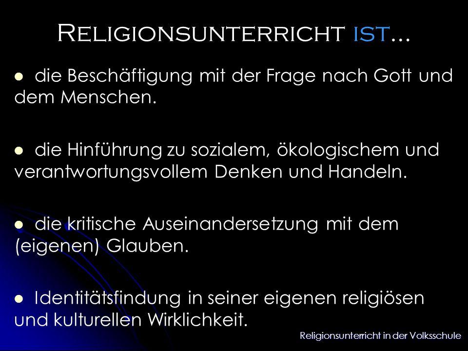 Religionsunterricht ist…