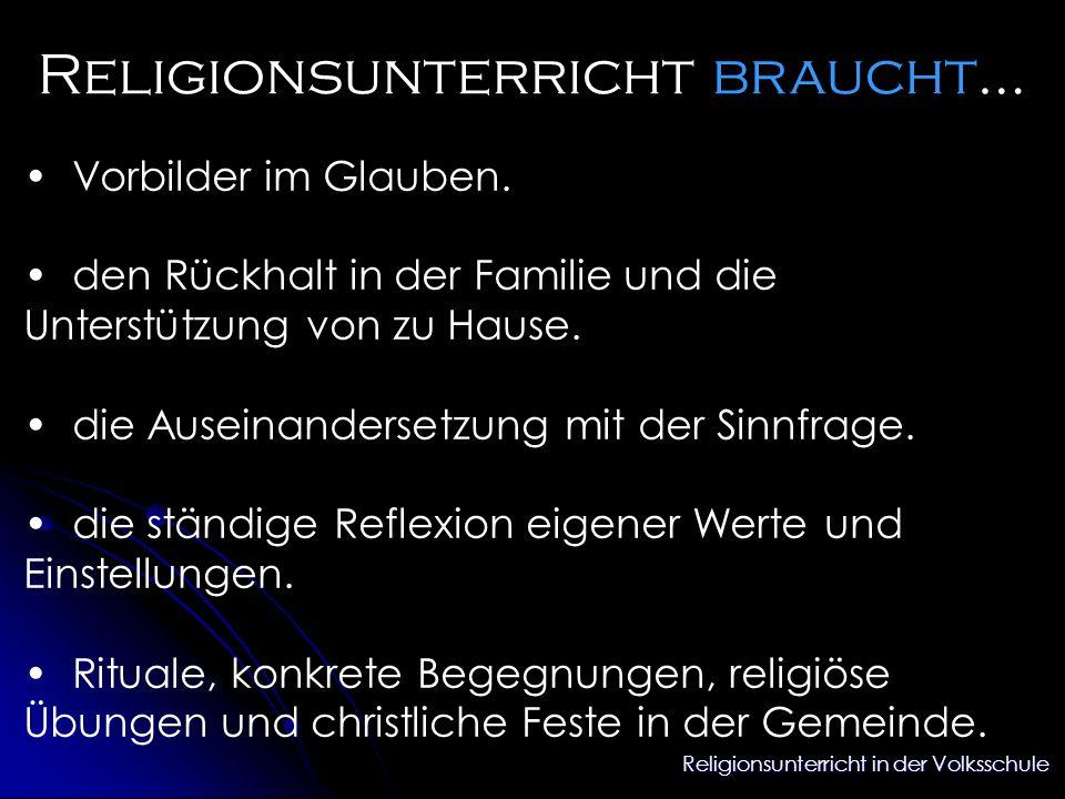 Religionsunterricht braucht…