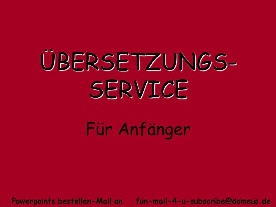 ÜBERSETZUNGS-SERVICE