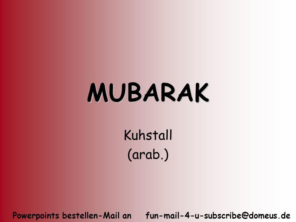 MUBARAK Kuhstall (arab.)