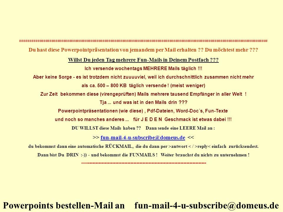 Willst Du jeden Tag mehrere Fun-Mails in Deinem Postfach