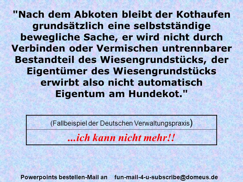 (Fallbeispiel der Deutschen Verwaltungspraxis)
