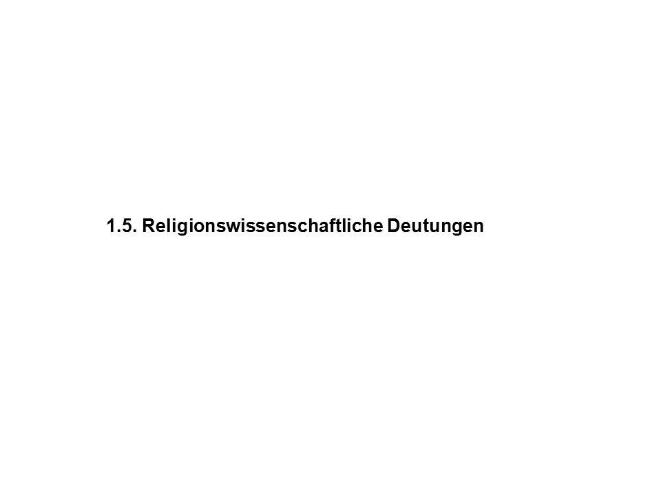 1.5. Religionswissenschaftliche Deutungen