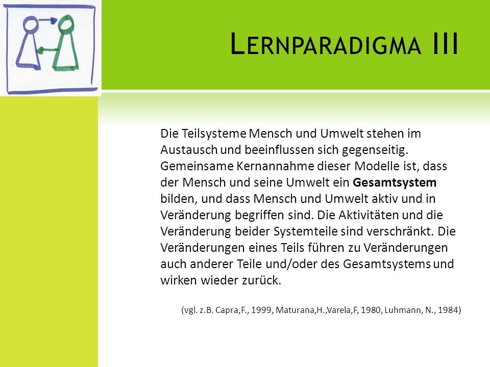 Lernparadigma III